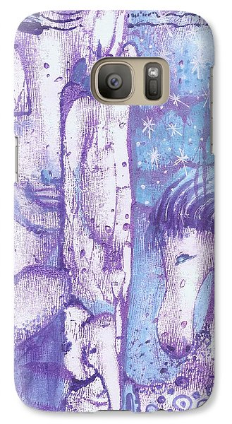 Galaxy Case featuring the mixed media Calling Upon The Spirit Animals by Prerna Poojara