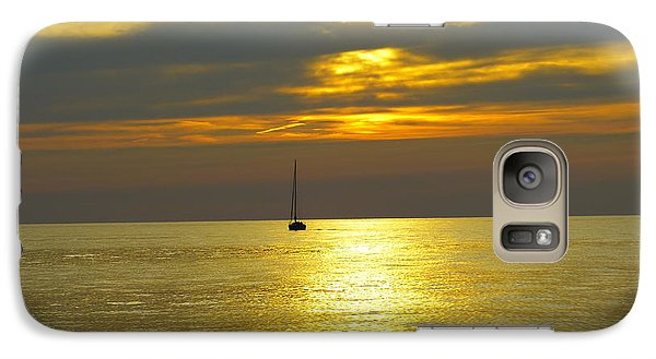 Galaxy Case featuring the photograph Calm Before Sunset Over Lake Erie by Donald C Morgan