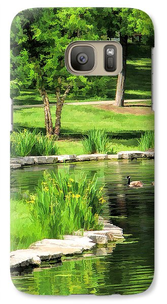 Galaxy S7 Case featuring the painting Calm Lake Ellyn by Christopher Arndt