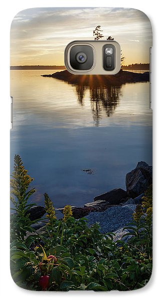 Galaxy Case featuring the photograph Calm Water At Sunset, Harpswell, Maine -99056-99058 by John Bald