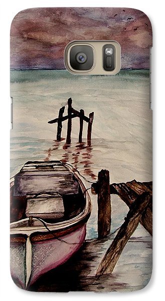 Galaxy Case featuring the painting Calm Waters by Lil Taylor
