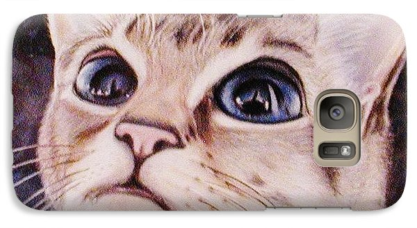 Galaxy Case featuring the painting Calvin The Cat by Martha Ayotte