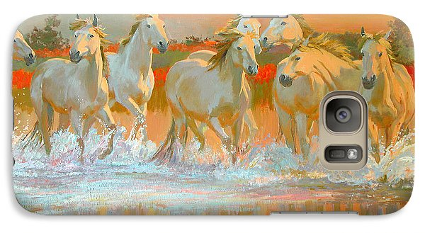 Horse Galaxy S7 Case - Camargue  by William Ireland