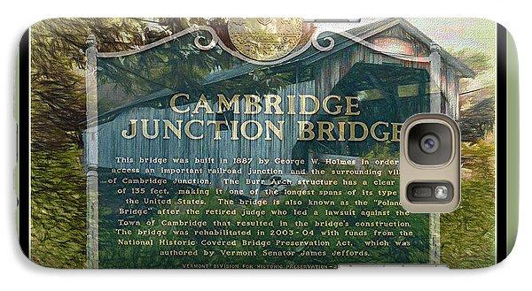 Galaxy Case featuring the digital art Cambridge Jct. Bridge History by John Selmer Sr