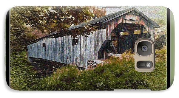 Galaxy Case featuring the digital art Cambridge Jct. Bridge by John Selmer Sr