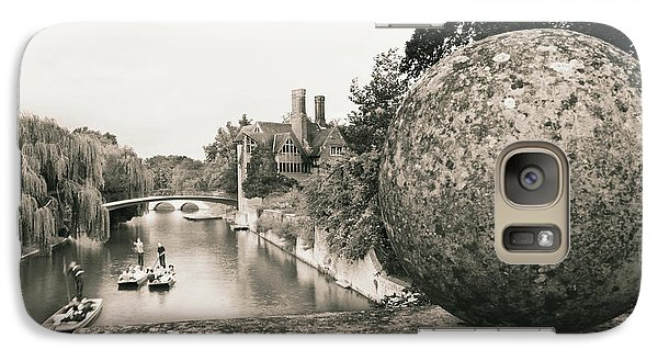 Galaxy Case featuring the photograph Cambridge Punting  by Eden Baed