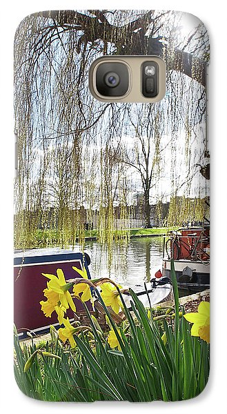 Galaxy Case featuring the photograph Cambridge Riverbank In Spring by Gill Billington