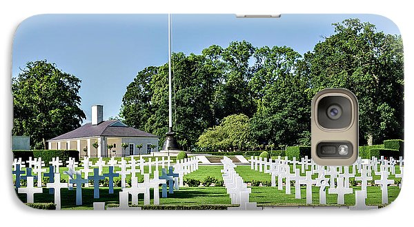 Galaxy Case featuring the photograph Cambridge England American Cemetery by Alan Toepfer