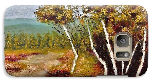 Galaxy Case featuring the painting Camel Top Birches by Jason Williamson