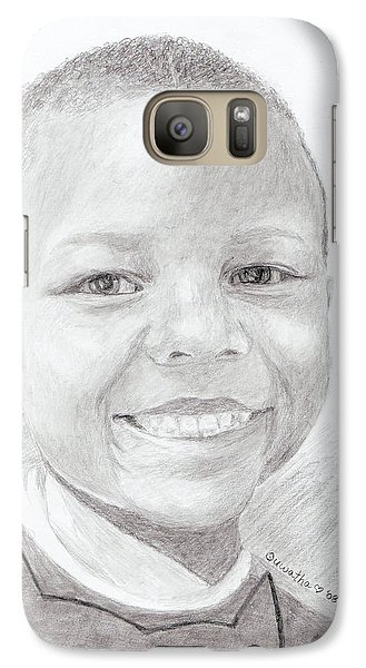 Galaxy Case featuring the drawing Cameron by Quwatha Valentine