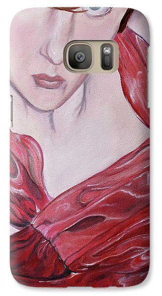 Galaxy Case featuring the painting Cami by Jane Autry