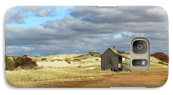 Galaxy Case featuring the photograph Camp On The Marsh And Dunes by Roupen  Baker