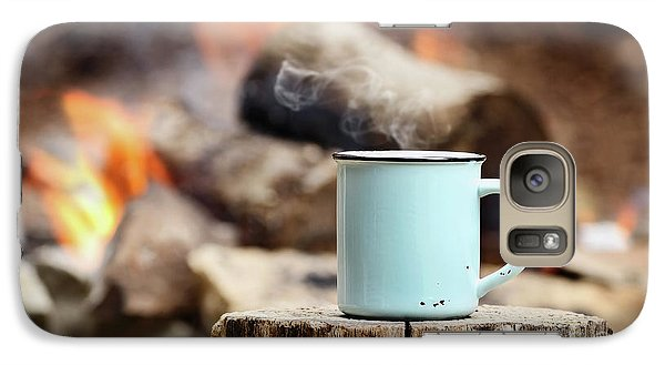 Galaxy Case featuring the photograph Campfire Coffee by Stephanie Frey