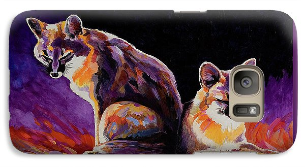 Galaxy Case featuring the painting Campfire Surveillance Team by Bob Coonts