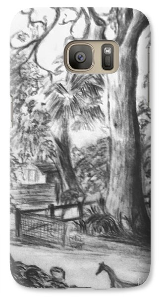 Galaxy Case featuring the drawing Camping Fun by Leanne Seymour