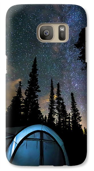 Galaxy S7 Case featuring the photograph Camping Star Light Star Bright by James BO Insogna