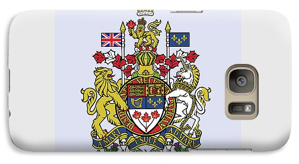Galaxy Case featuring the drawing Canada Coat Of Arms by Movie Poster Prints