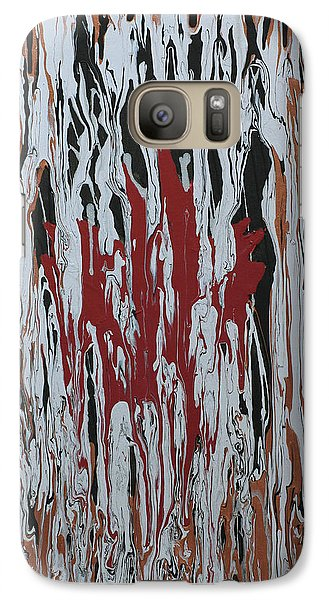 Galaxy Case featuring the painting Canada Cries by Cathy Beharriell