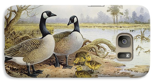 Canada Geese Galaxy Case by Carl Donner