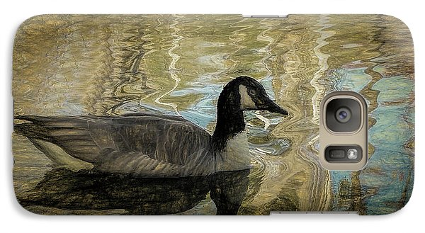 Galaxy Case featuring the painting Canadian Goose by Steven Richardson