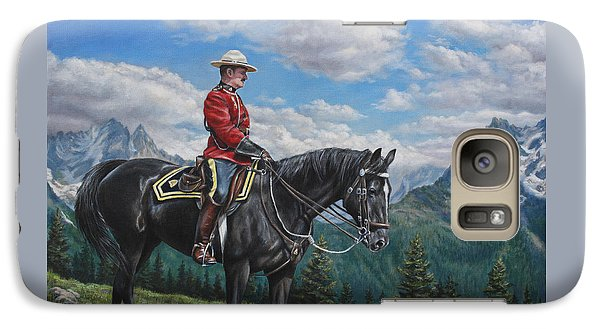Galaxy Case featuring the painting Canadian Majesty by Kim Lockman