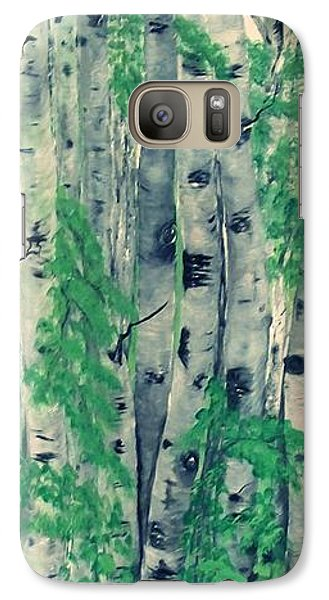 Galaxy Case featuring the painting Canadian White  Poplar by Sharon Duguay