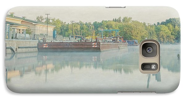 Galaxy Case featuring the photograph Canal In Pastels by Everet Regal