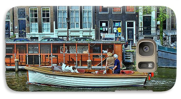 Galaxy Case featuring the photograph Amsterdam Canal Scene 10 by Allen Beatty
