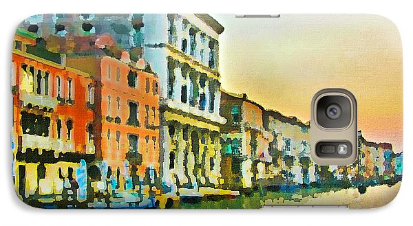 Galaxy Case featuring the photograph Canal Sunset - Venice by Tom Cameron