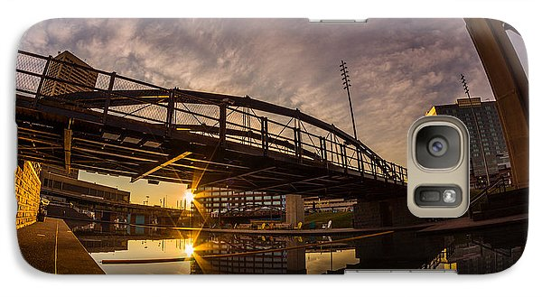 Galaxy Case featuring the photograph Canalside Dawn No 6 by Chris Bordeleau