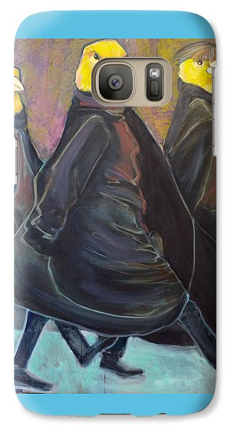 Galaxy Case featuring the painting Canaries On Parade by Irena Mohr