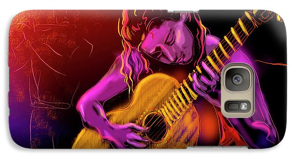 Galaxy Case featuring the painting Cancion Del Corazon by DC Langer