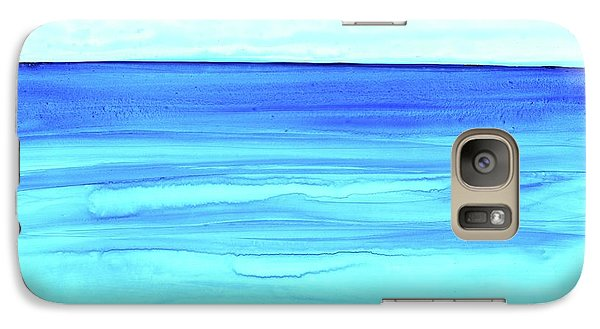 Galaxy Case featuring the painting Cancun Mexico by Dick Sauer