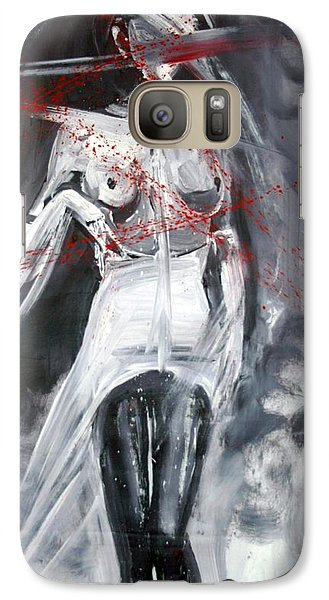 Galaxy Case featuring the painting Candle In The Wind by Jarmo Korhonen aka Jarko