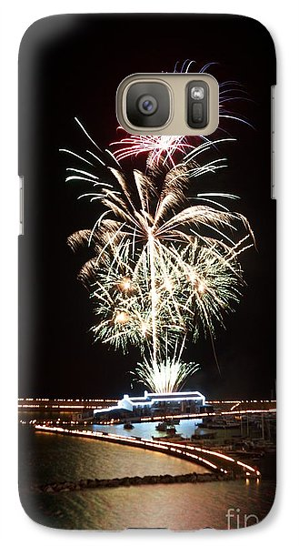 Galaxy Case featuring the photograph Candles On The Cobb  by Gary Bridger