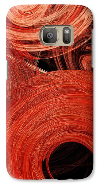 Galaxy Case featuring the digital art Candy Chaos 2 Abstract by Andee Design