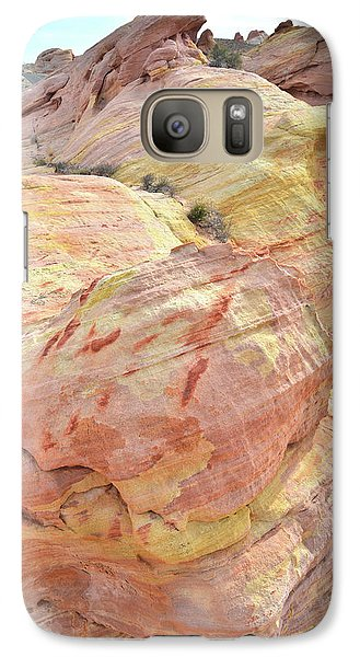 Galaxy Case featuring the photograph Candy Colored Sandstone In Valley Of Fire by Ray Mathis