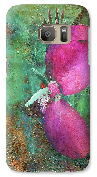 Galaxy Case featuring the digital art Canna Grunge by Greg Sharpe