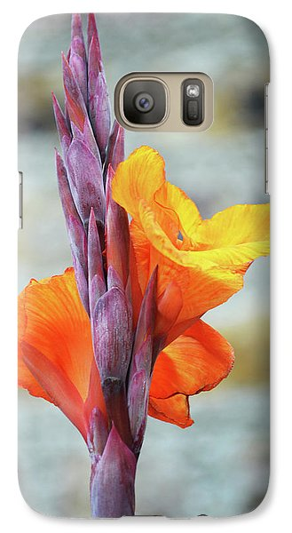 Galaxy Case featuring the photograph Cannas by Terence Davis