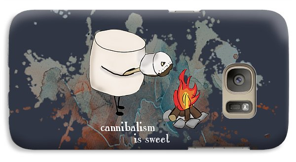 Galaxy Case featuring the photograph Cannibalism Is Sweet Illustrated by Heather Applegate