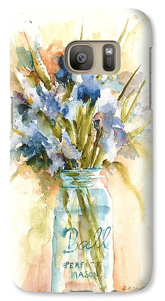 Galaxy Case featuring the painting Canning Irises by Sandra Strohschein
