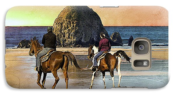 Galaxy Case featuring the photograph Cannon Beach by Kenneth De Tore