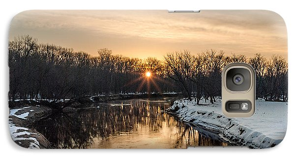 Galaxy Case featuring the photograph Cannon River Sunrise by Dan Traun