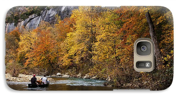 Galaxy Case featuring the photograph Canoeing The Buffalo River At Steel Creek by Michael Dougherty