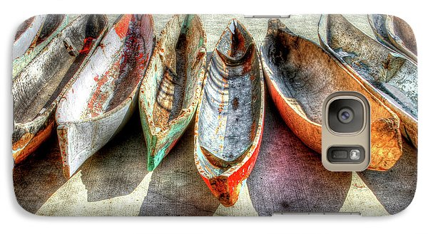 Boat Galaxy S7 Case - Canoes by Debra and Dave Vanderlaan