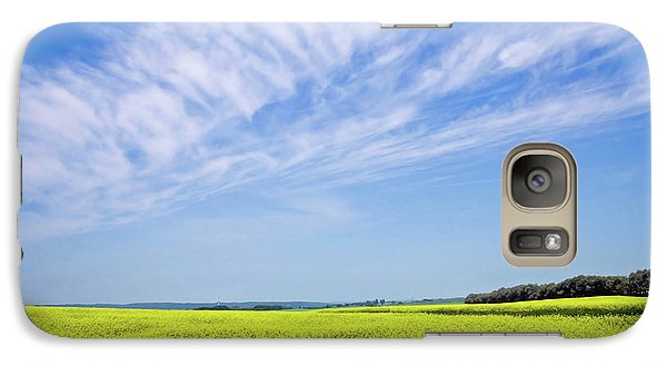 Galaxy Case featuring the photograph Canola Blue by Keith Armstrong