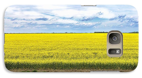 Galaxy Case featuring the photograph Canola Field - Photography by Ann Powell