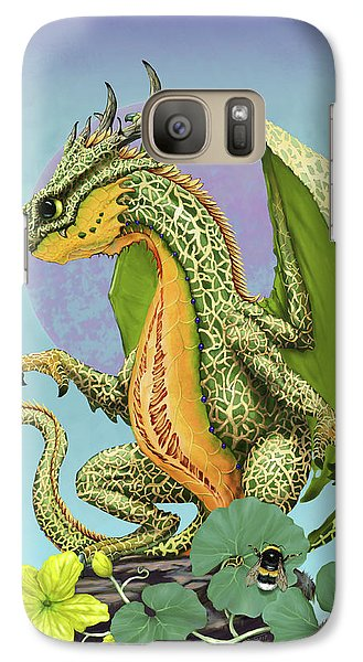 Galaxy Case featuring the digital art Cantaloupe Dragon by Stanley Morrison