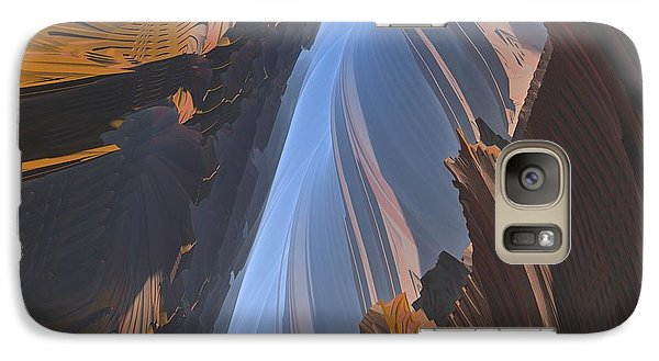 Galaxy Case featuring the digital art Canyon by Lyle Hatch