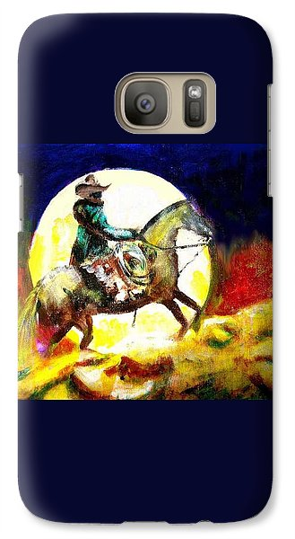 Galaxy Case featuring the painting Canyon Moon by Seth Weaver